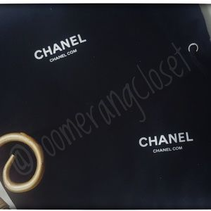 """CHANEL Bags - Two NEW 4"""" Chanel Black, Drawstring, Cosmetic Bags"""